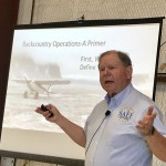 "SAFE Board member Mike Vivion presenting ""Backcountry Flying"" Seminar."